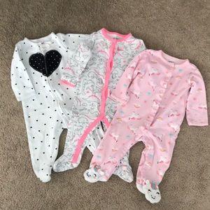 Set of 3 Footie Pajamas
